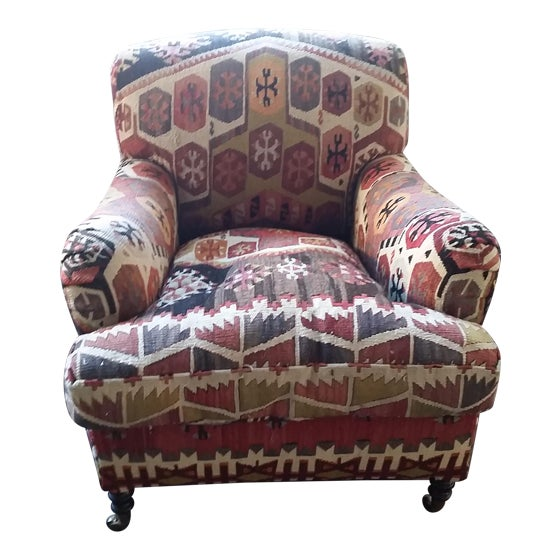 George Smith Kilim Armchair Chairish