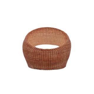 Isamu Kenmochi Rattan Lounge Chair For Sale