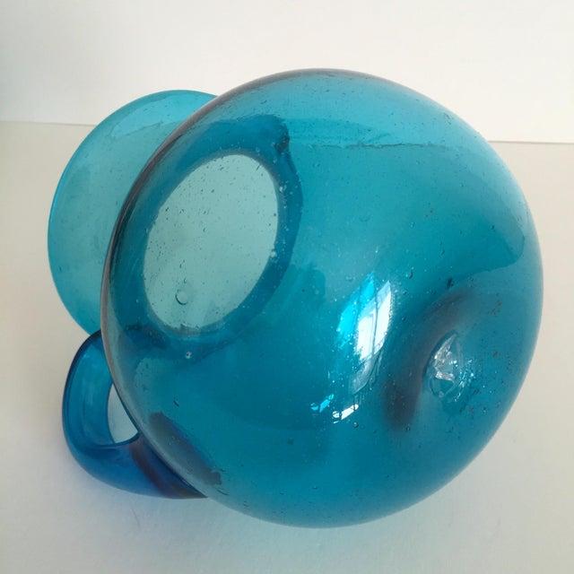 Mid-Century Blue Blenko Glass Pitcher - Image 11 of 11