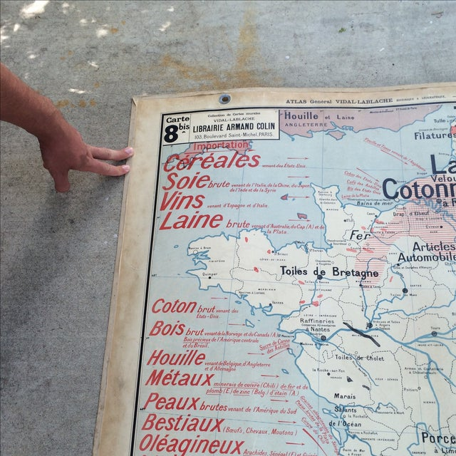 1950s French Two-Sided School Map of France For Sale - Image 9 of 11