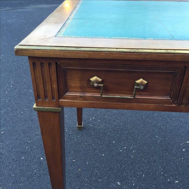 Antique Regency Leather Top Writing Desk - Image 6 of 9