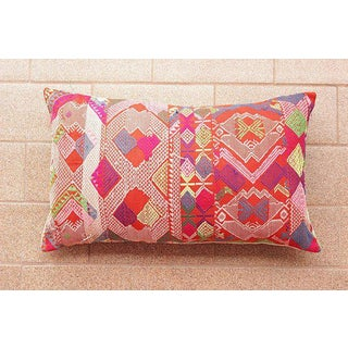 Hmong Tribal Embroiderered Pillow Preview