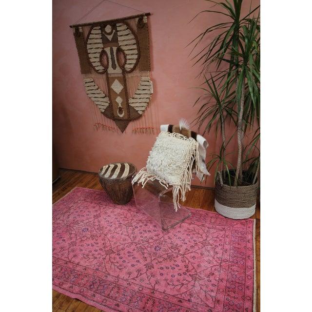 Rosa Vintage Overdye Pink Rug - 3′10″ × 7′ - Image 2 of 4