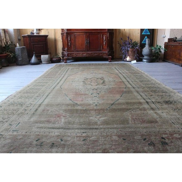 1930s Vintage Hand Knotted Anatolian Rug For Sale - Image 5 of 10