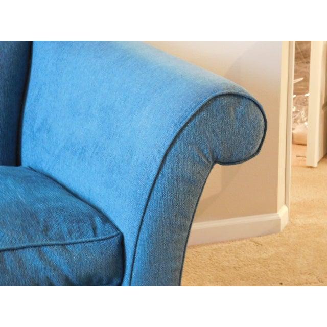 Bernhardt Blue Camel Back Sofa - Image 4 of 4