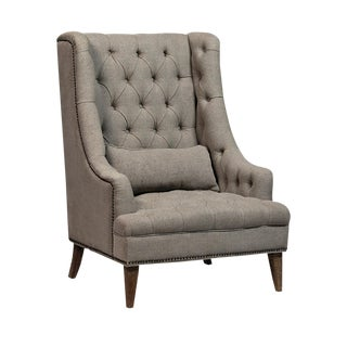 Tall Tufted Arm Chair For Sale
