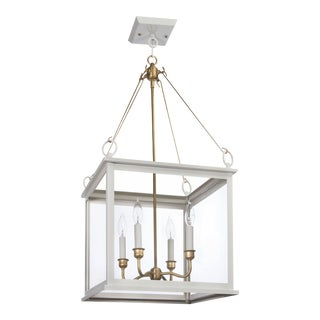 Midtown Collection Hanging Light, White For Sale