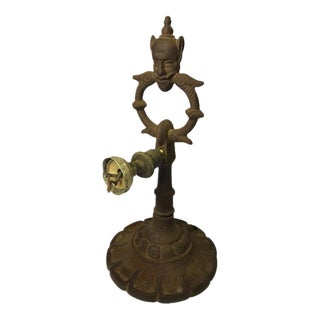 Antique Rembrandt Gothic Cast Iron Desk Lamp For Sale