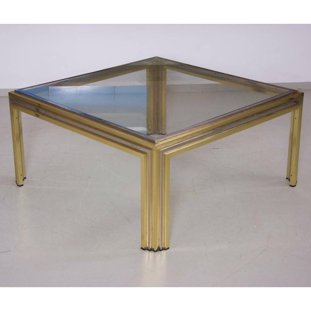 Romeo Rega Coffee Table in Brass and Chrome For Sale - Image 6 of 6