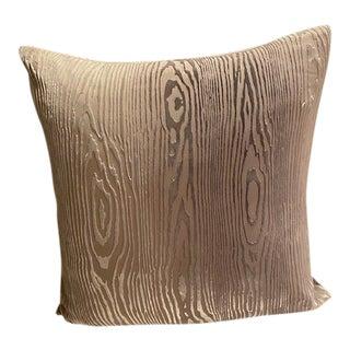 Abc Carpet Woodgrain Velvet Decorative Pillow For Sale