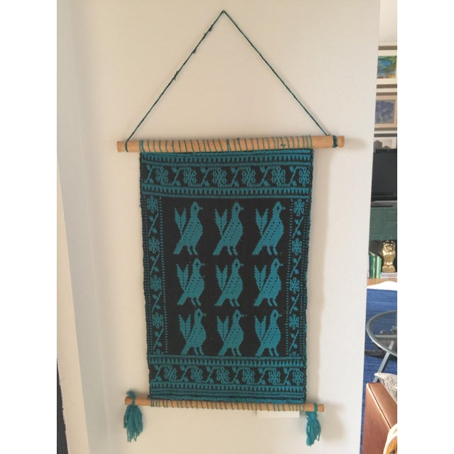 Boho Chic Vintage Peruvian Wall Tapestry For Sale - Image 3 of 3