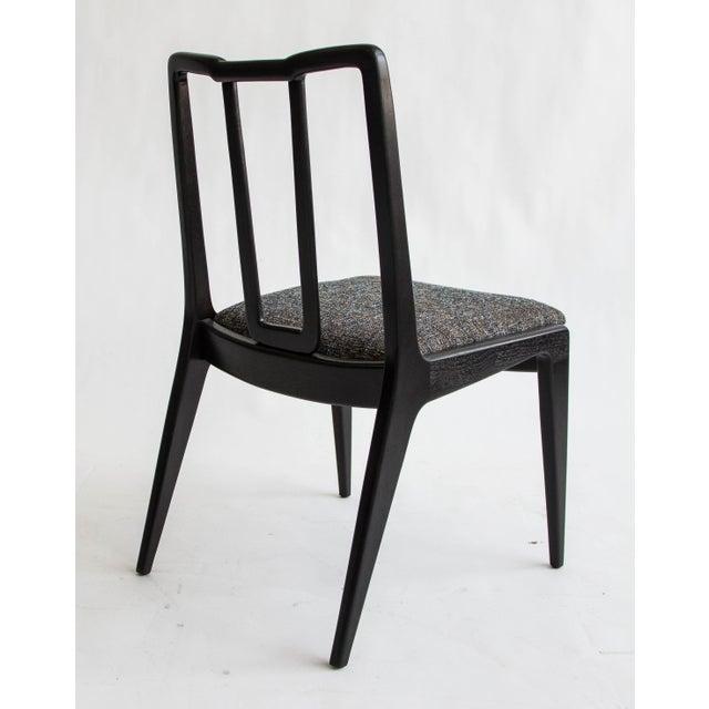 Ebonized John Stuart Dining Chairs - Set of 4 - Image 3 of 7