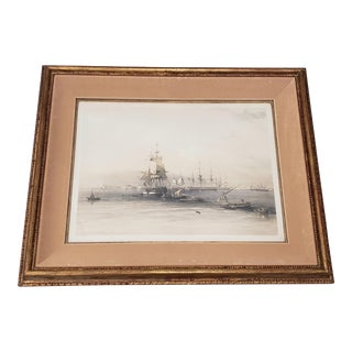 """David Roberts """"Approach to Alexandria"""" Original Lithograph W/ Hand Coloring C.1848 For Sale"""