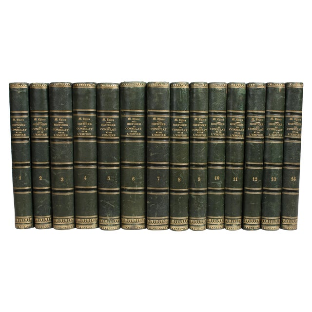 19th C. French Leather-Bound Books - Set of 14 - Image 1 of 4