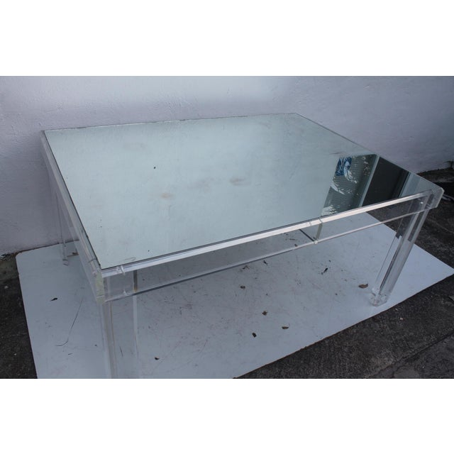 VJJ 1978 Signed Lucite Dining Table For Sale - Image 5 of 11