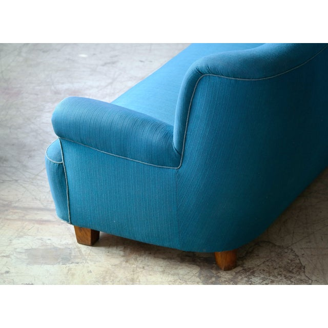 Danish Midcentury Boesen Style Large Four-Seat Danish Sofa, 1940s For Sale - Image 10 of 11