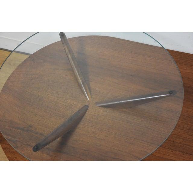 Kagan Style Walnut Coffee Table - Image 4 of 10