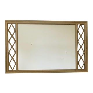 Vintage Ficks Reed Faux Bamboo Mirror For Sale