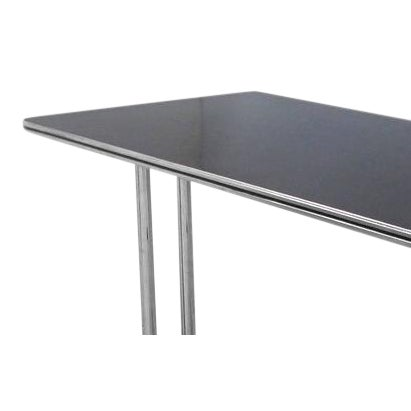 Art Deco Streamline Chrome Writing Table or Console Table For Sale In Miami - Image 6 of 7