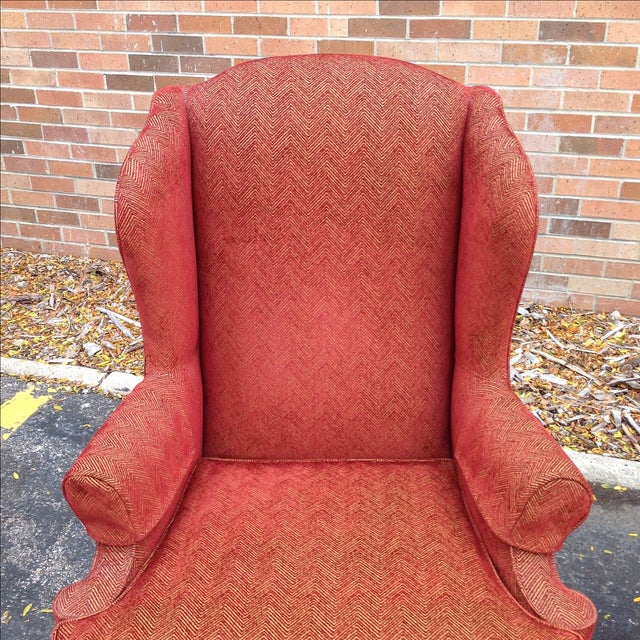 Walter E. Smithe Wingback Chairs - Pair For Sale - Image 7 of 10