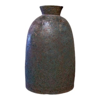 A Large Dong Son Culture Ritual Bronze Bell For Sale