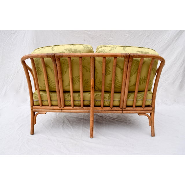 Ficks Reed Style Settee & Ottoman For Sale - Image 9 of 13