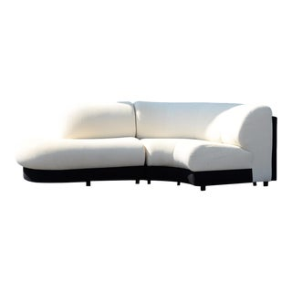 1990s Vladimir Kagan Style Serpentine 2 Piece Sectional by Preview For Sale
