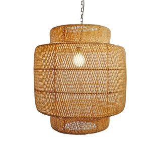 Natural Wicker Liberty Lantern Medium For Sale