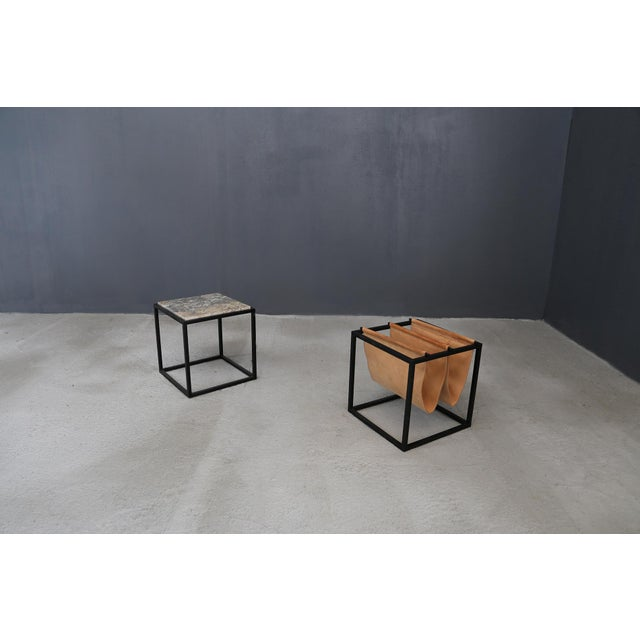 1960s Domino Magazine Rack With Table by Jorge Zalszupin For Sale - Image 5 of 5