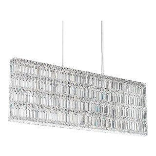 Quantum 25 Light Pendant in Stainless Steel With Clear Crystals From Swarovski For Sale