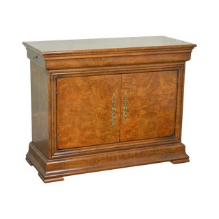 Henredon Burl Wood Charles X Collection 2 Door Server Cabinet (B) For Sale