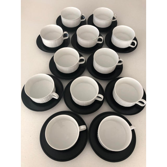 Rosenthal Porcelaine Noire Coffee Cups & Saucers For Sale In Chicago - Image 6 of 6