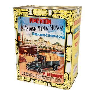 Mid 20th Century Spanish Pimiento Tin Can For Sale