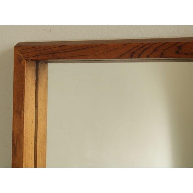 Wood Danish Modern Mid Century Rosewood Rectangular Wall Mirror For Sale - Image 7 of 13