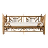 Image of 1980s Vintage Ralph Lauren Rattan & Bamboo Daybed For Sale