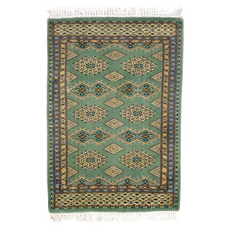 Pak Bokhara Hand-Knotted Rug - 2′ × 3′ For Sale