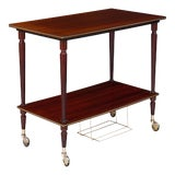 Image of French Modernist Period Vintage Tea Cart For Sale
