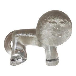 1970s Kosta Boda Zoo Series Lion Figurine Bertil Vallien For Sale