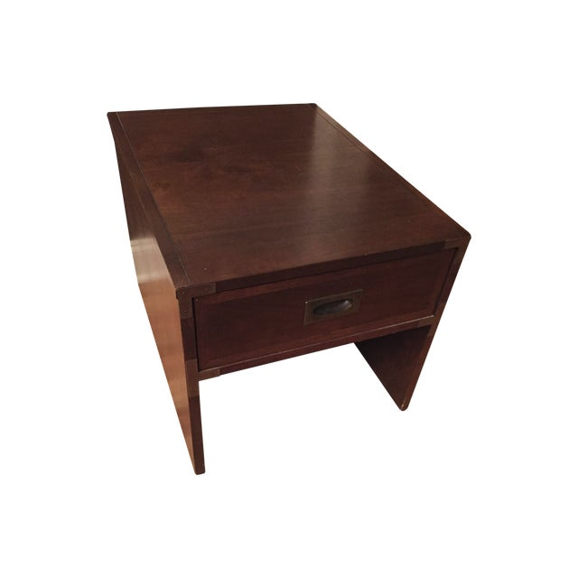 Lane Campaign Style Side Table/Night Table - Image 1 of 8