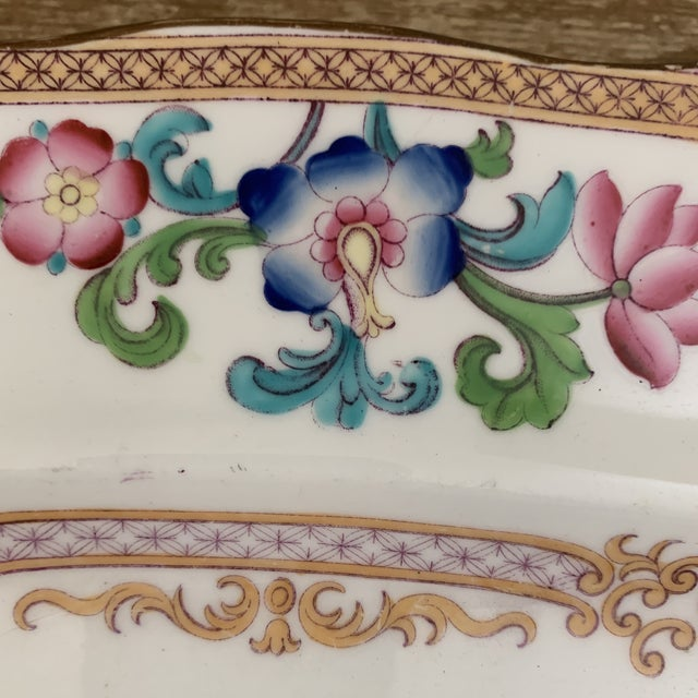 Late 18th Century Antique English Minton Chinoiserie Platter For Sale - Image 5 of 8
