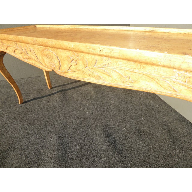 Vintage Rustic French Country Console Table For Sale - Image 9 of 11