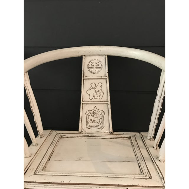 White Ming Side Chairs - A Pair - Image 4 of 8
