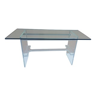 Vintage Lucite Console or Desk Table For Sale