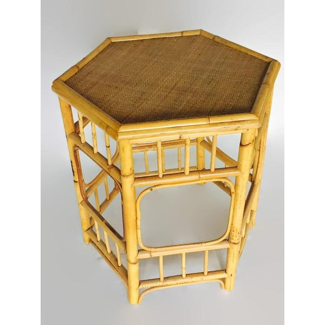 Vintage Bamboo Fretwork Side Table - Image 7 of 7