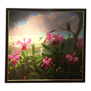 Tropical Scene Large Scale Painting by Peter Tysver