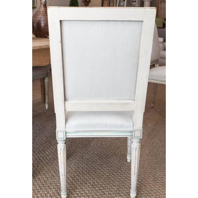 Textile Louis XVI Style Dining Chairs - Set of 6 For Sale - Image 7 of 9