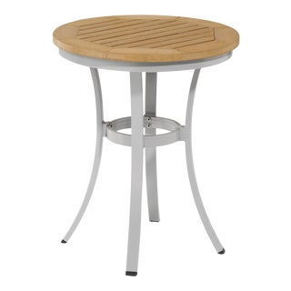 """24"""" Round Café Outdoor Bistro Table, Natural For Sale"""