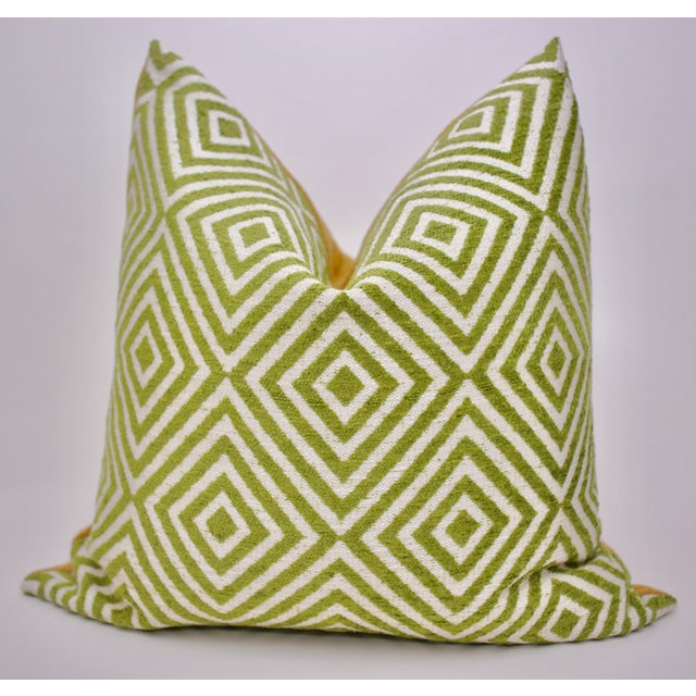 Bassett McNab Company Washed Chenille and Boucle Square Pillow For Sale In Atlanta - Image 6 of 6