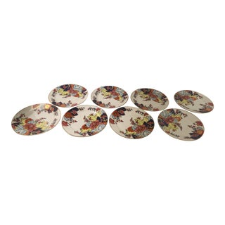 Vintage Imperial Tobacco Leaf Luncheon Plates For Sale