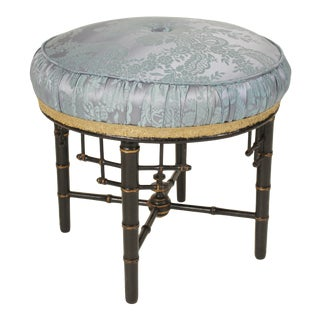 Aesthetic Movement Ebonized Bamboo Style Turned Stool For Sale